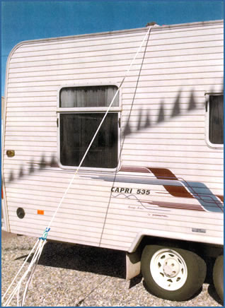 Pulley System - secure your camper